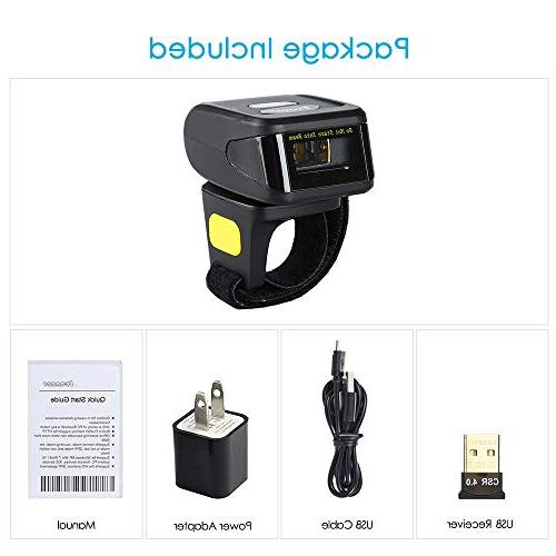 Eyoyo 1D Wireless Barcode with Bluetooth Function & Wireless & Connection, Portable Mini with Mac Android 4.0+,