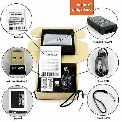 USB Bluetooth Barcode Scanner,Symcode 1D Mini Wireless Handheld