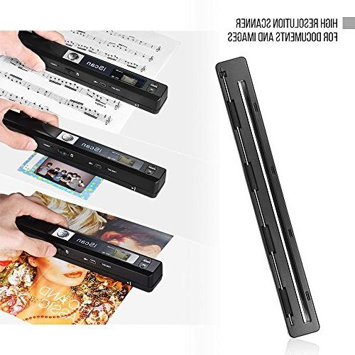 Aibecy Portable Wireless Document & Images Scanner A4 Size JPG/PDF Formate for Business Books