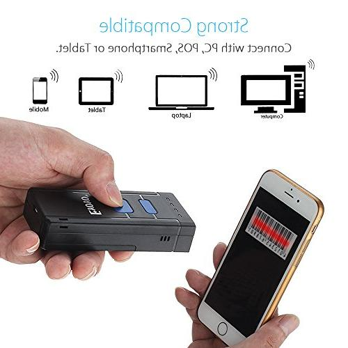 Portable Wireless Scanner, Mini Handheld Barcode Reader for iPhone, Android Phones, or