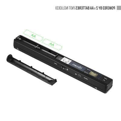 Portable Scanner 900DPI LCD Display Document