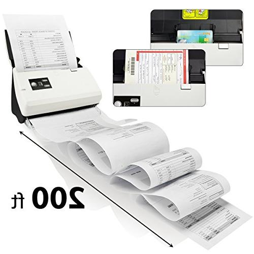Plustek duplex Document Scanner: Auto Document Feeder and searchable Abbyy Support and