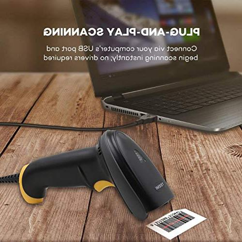 TEEMI Handheld Automatic USB 1D 2D bar Imager with USB for Mobile Screen OS