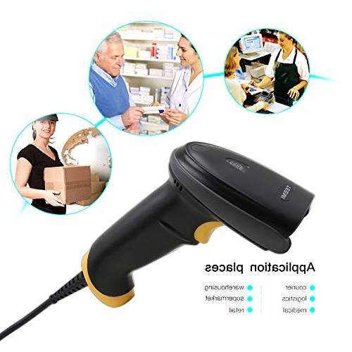 TEEMI Barcode Handheld Automatic USB 1D 2D bar Imager Screen Scan Support OS