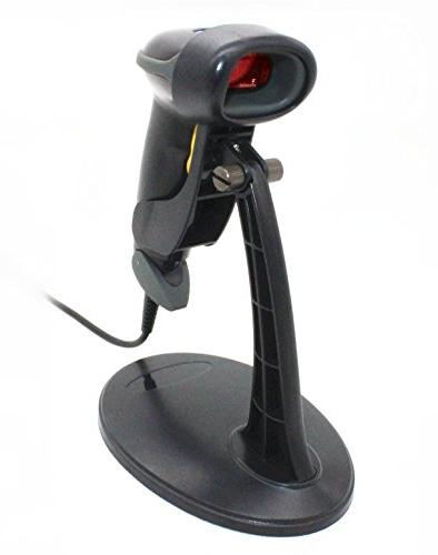 USB Barcode Scanning Reader with Hands Free Stand
