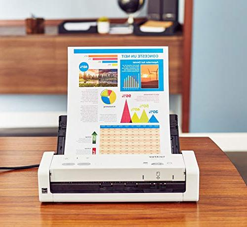 Brother Wireless Portable Desktop Scanner, ADS-1250W, Easy-to-Use, Fast Scan Ideal for Home, Home or Professionals
