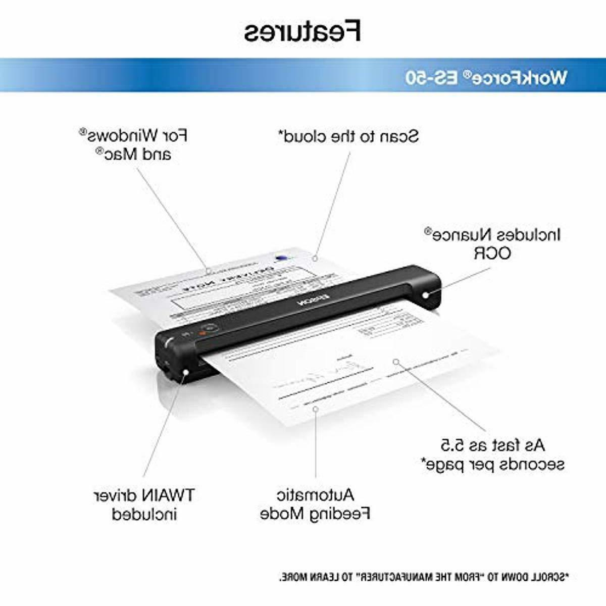 Epson Workforce Portable Sheet-fed Document for PC and