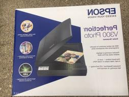 New In Box Epson Perfection V300 Photo Flatbed USB Scanner