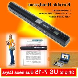Portable Scanner Handyscan 900DPI A4 Document Handheld Scann