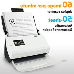 Plustek PS30D duplex Document Scanner: with 50 Sheet Auto Do