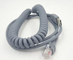 SinLoon Symbol Ls2208 USB Cable, USB A to RJ45 Coiled Spiral