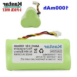 Kastar 1-Pack AAA 3.6V 1000mAh Ni-MH Rechargeable Battery Re