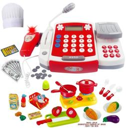 FUNERICA Toy Cash Register with Scanner - Microphone - Calcu