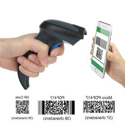 Upgraded Dual 2.4G Wireless+Wired 1D 2D Barcode Scanner QR D