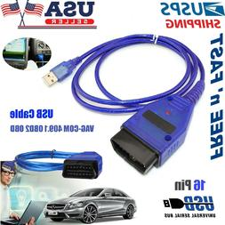 USB Cable KKL VAG-COM 409.1 OBD2 OBDII Diagnostic Scanner VW