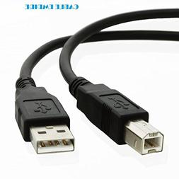 USB Printer Cable USB 2.0 Type A Male to B Male Scanner Cord