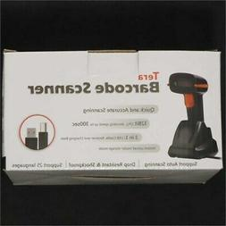 Tera Wireless Barcode Scanner 1D 2D with USB Cradle Charging